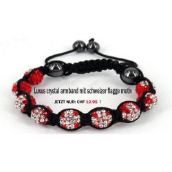 Luxus Armband mit schweizer flagge motiv