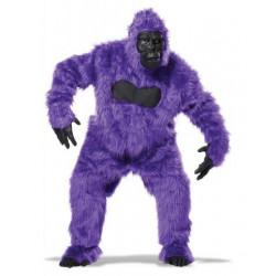 Gorilla Affenkostüm Lila / Violett
