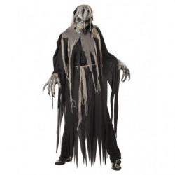 Gruseliges Zombie Kostüm mit Gesichtsmimik Maske