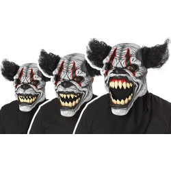 Böser Clown Halloween Kostüm mit Bewegliche Maske