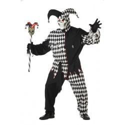 Harlekin Kostüm Schwarz-Weiß evil Jester