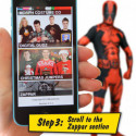 Deadpool Morphsuit Superhelden Kostüm