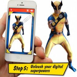 Wolverine Morphsuit Superhelden Kostüm