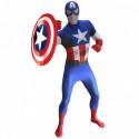 Captain America Morphsuit Superhelden Kostüm
