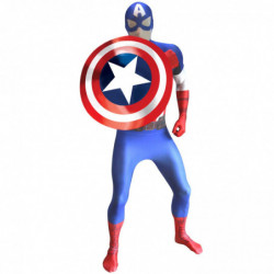 Captain America Morphsuit Superhelden Kostüm