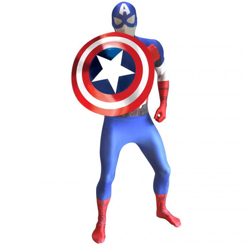 captain america morphsuit superhelden kost m zyzy shop. Black Bedroom Furniture Sets. Home Design Ideas