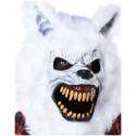 Weisser Werwolf Halloween Ani-Motion Maske