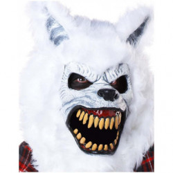 Weisser Werwolf Halloween Ani-Motion Maske