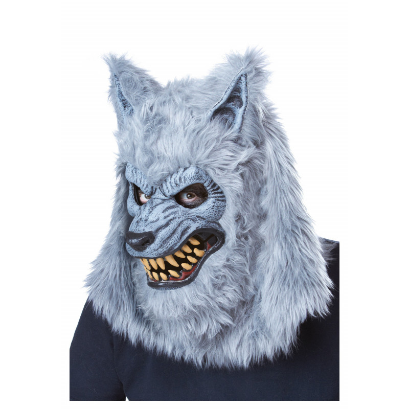 Grauer Werwolf Halloween Ani-Motion Maske