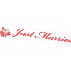 Hochzeitsfeier Absperrband Just Married