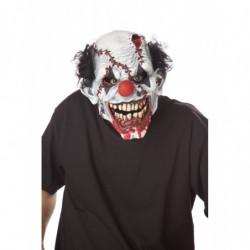 Gesichtsmaske böser Clown mit genähte Wunde