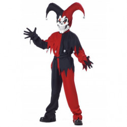 Harlekin Kinder Kostüm Schwarz-Rot