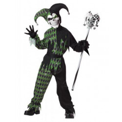 Harlekin Kinder Kostüm Schwarz-Grun