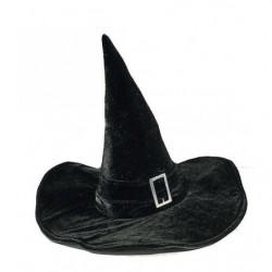 Hexenhut aus schwarzer Samt