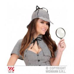 Detektivhut Detektivmütze kariert