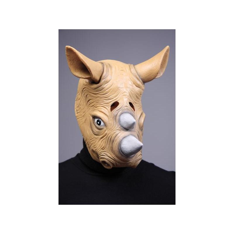 Nashorn Maske aus Latex