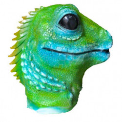 Grüne Eidechse Maske