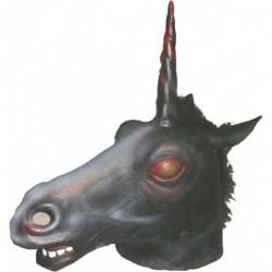 Schwarzes Einhorn Halloween Horror Maske