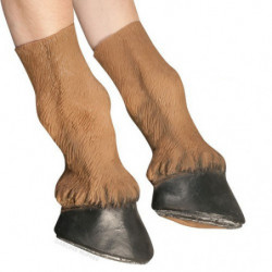 Pferdehuf Handschuhe braun