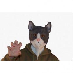 Schwarz Weißer Kater Katzen Maske