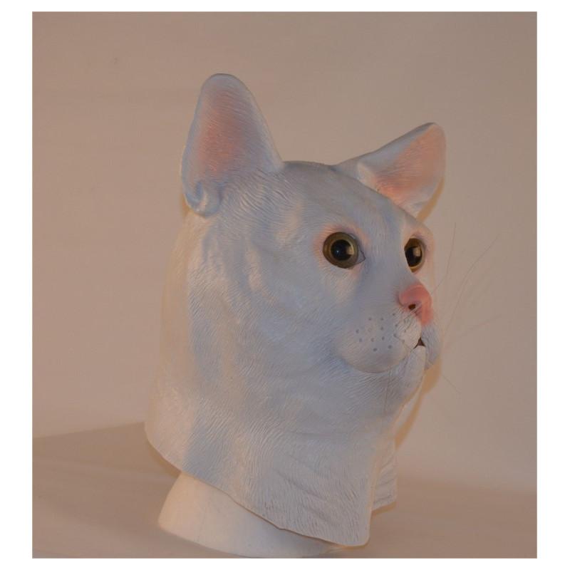 Katzenmaske weiss