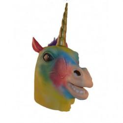 Buntes Einhorn Maske