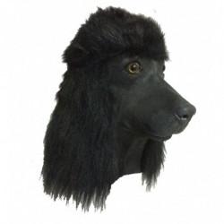 Faschingsmaske Hund Pudel schwarz