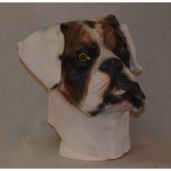 Maske Hund Boxer gefleckt