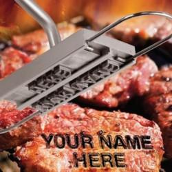 BBQ-Brandeisen mit wechselbaren Buchstaben