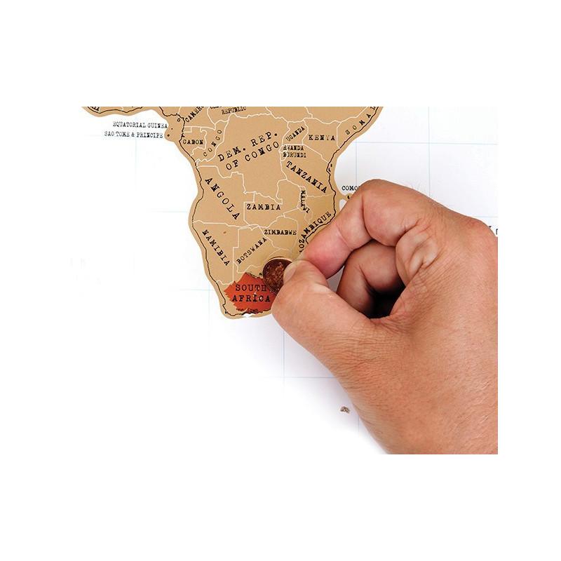 Weltkarte zum Rubbeln Scratch Map