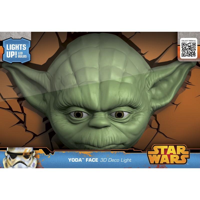 die offiziell lizenzierte star wars yoda 3d wandlampe 3d star wars death star light. Black Bedroom Furniture Sets. Home Design Ideas
