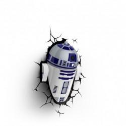3D Star Wars R2D2 Wandleuchte
