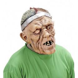Maske Monster mit halb geöffnetem Kopf und freiliegendem Hirn