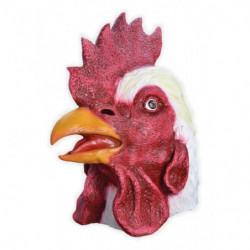 Realistische Hahn Maske Deluxe