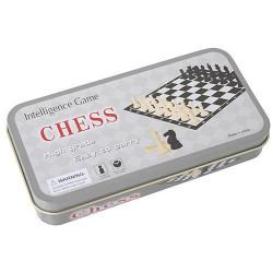 Mini Schachspiel in einer Metalldosen für Unterwegs
