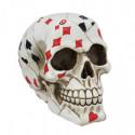 Poker Schädel - Totenkopf mit Spielkarten
