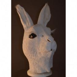 Weißes Kaninchen - Osterhasen Maske