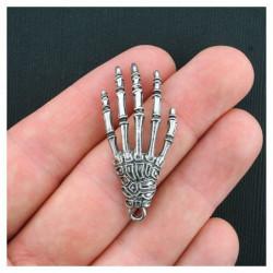 Skelett Hand Anhänger aus Zink silber