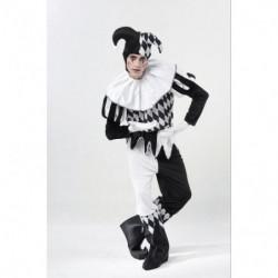 Harlekin Kostüm Schwarz-Weiss