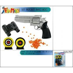 Polizei set Spielzeugpistole mit Zielscheiben und Fernglas