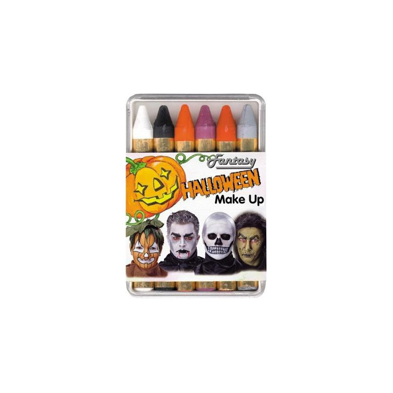 6 Halloween Make Up Stifte Karneval Schminke