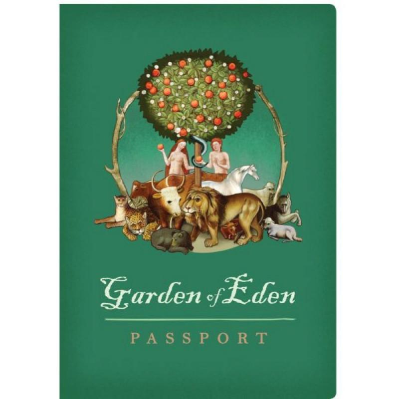 Garten Eden Reisepass Notizbuch Reiseführer