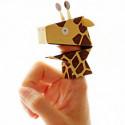 4 Papier Fingerpuppen Safari