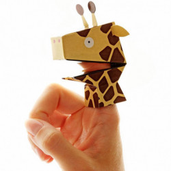4 Papier Fingerpuppen Safari