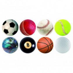 24 Untersetzer mit Sport Motiven