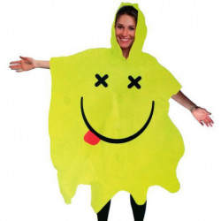 Rave Smiley Poncho Regen Cape