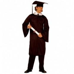 Doktorhut mit Robe - Absolventen Kostüm