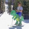 Aufblasbares Kostüm Dino Reiter