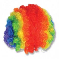 Clown Perücke Regenbogenfarben