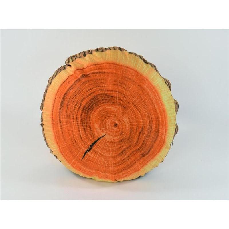 Deko Sitzkissen Holz Baumstamm